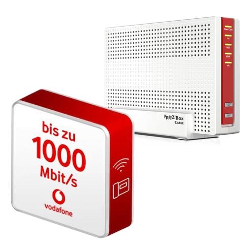 Vodafone Red Internet & Phone 1000 Cable (1000 Mbit/s) mit FRITZ!Box 6591 + 75€ Amazon Gutschein + 100€ Onlinebonus