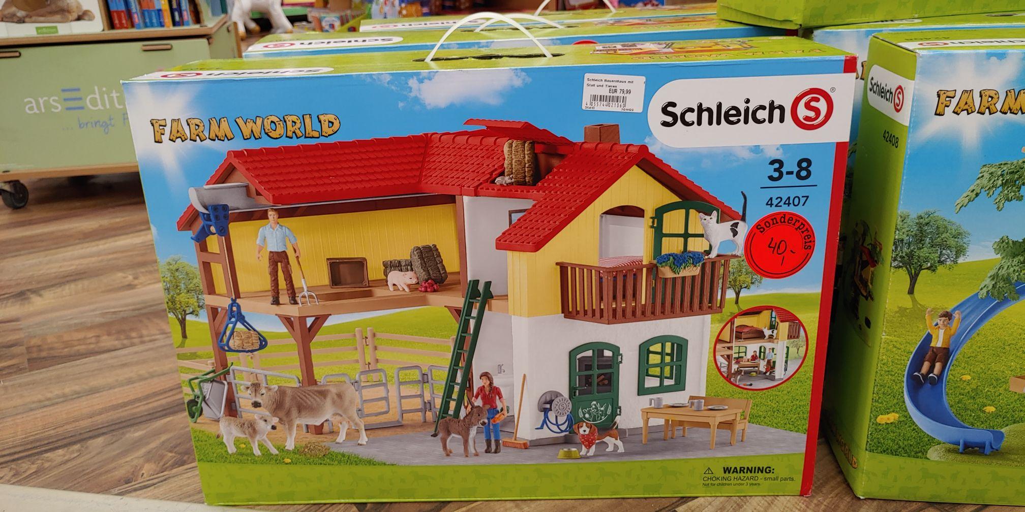 [Lokal] RWG Wiefelstede Schleich Bauernhaus mit Stall und Tieren (42407) 40€ Baumhaus (42408) für 30€