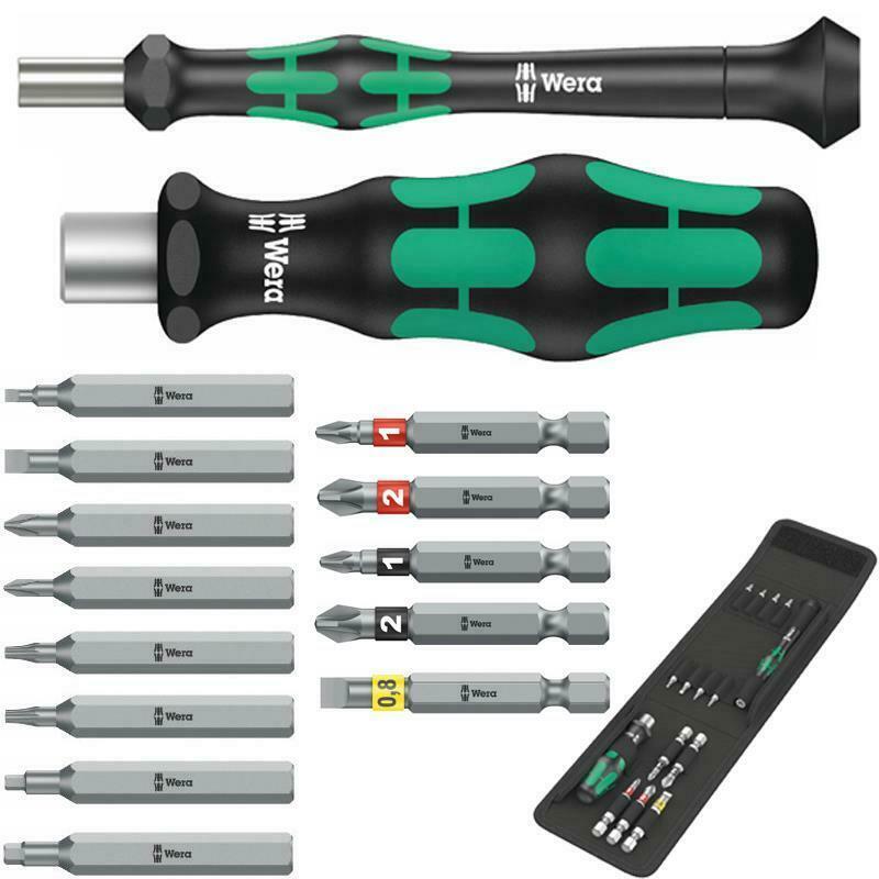 Wera Bit-Sortiment 15-tlg. mit Micro- und Werkstatt-Handhalter inkl. Falttasche (ebay)