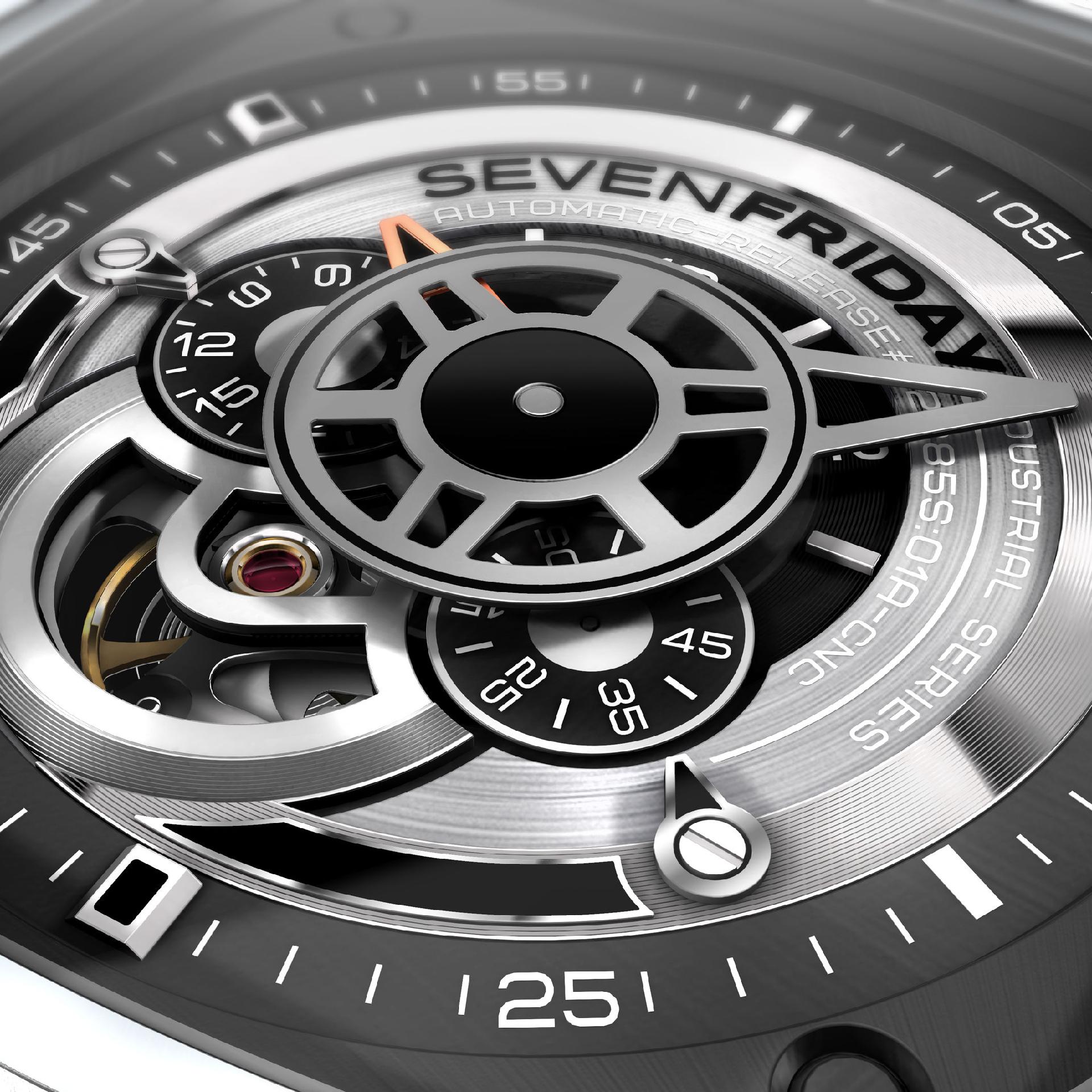 Sevenfriday P1 Industrial / Automatikuhr / Miyota Uhrwerk