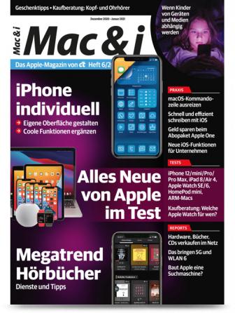 """c't Mac & i (2 Ausgaben) + 10€ Amazon-Gutschein + Mac & i-Sonderheft """"Workshops"""" für 14,40 €"""