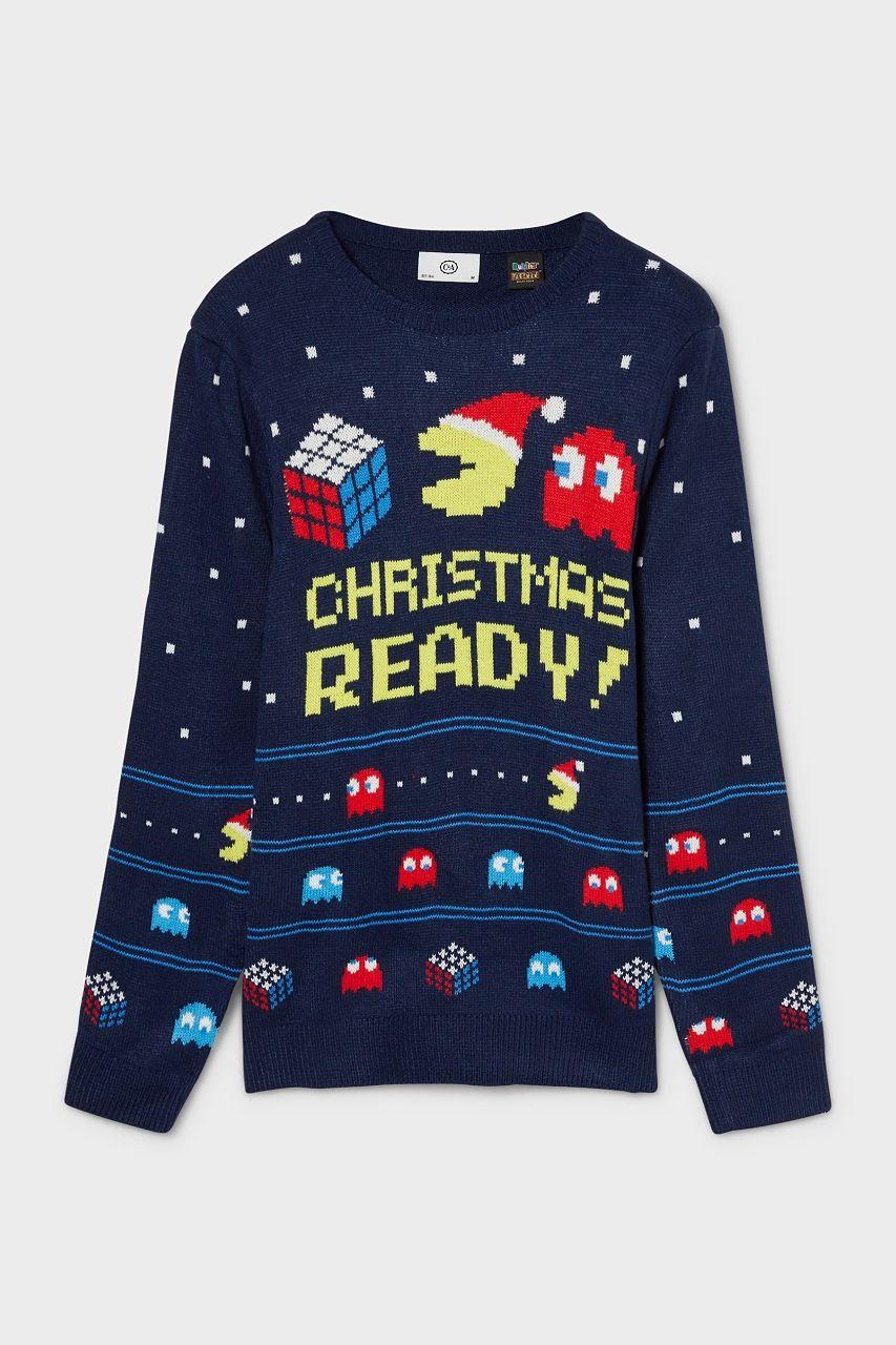 PacMan Weihnachtspullover bei C&A inkl. VSK freier Lieferung