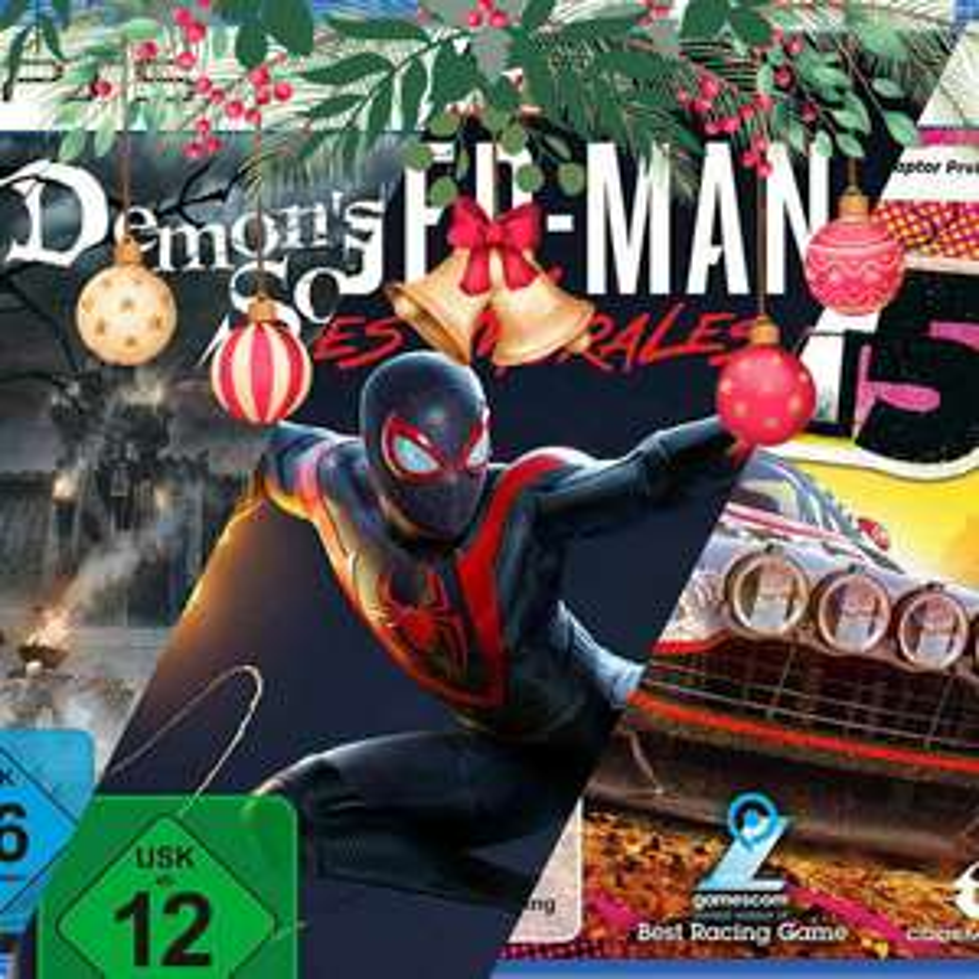 Spider-Man Miles Morales, Demon's Souls & Dirt 5 (PS5) (Amazon)