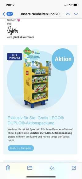 50€ Pampers kaufen -Lego / Duplo gratis