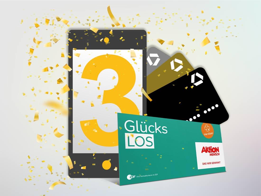 [commerzbank Kreditkartenkunden] 3-Raten-Service aktivieren und Aktion Mensch Glückslos im Gegenwert von 9 Euro geschenkt bekommen