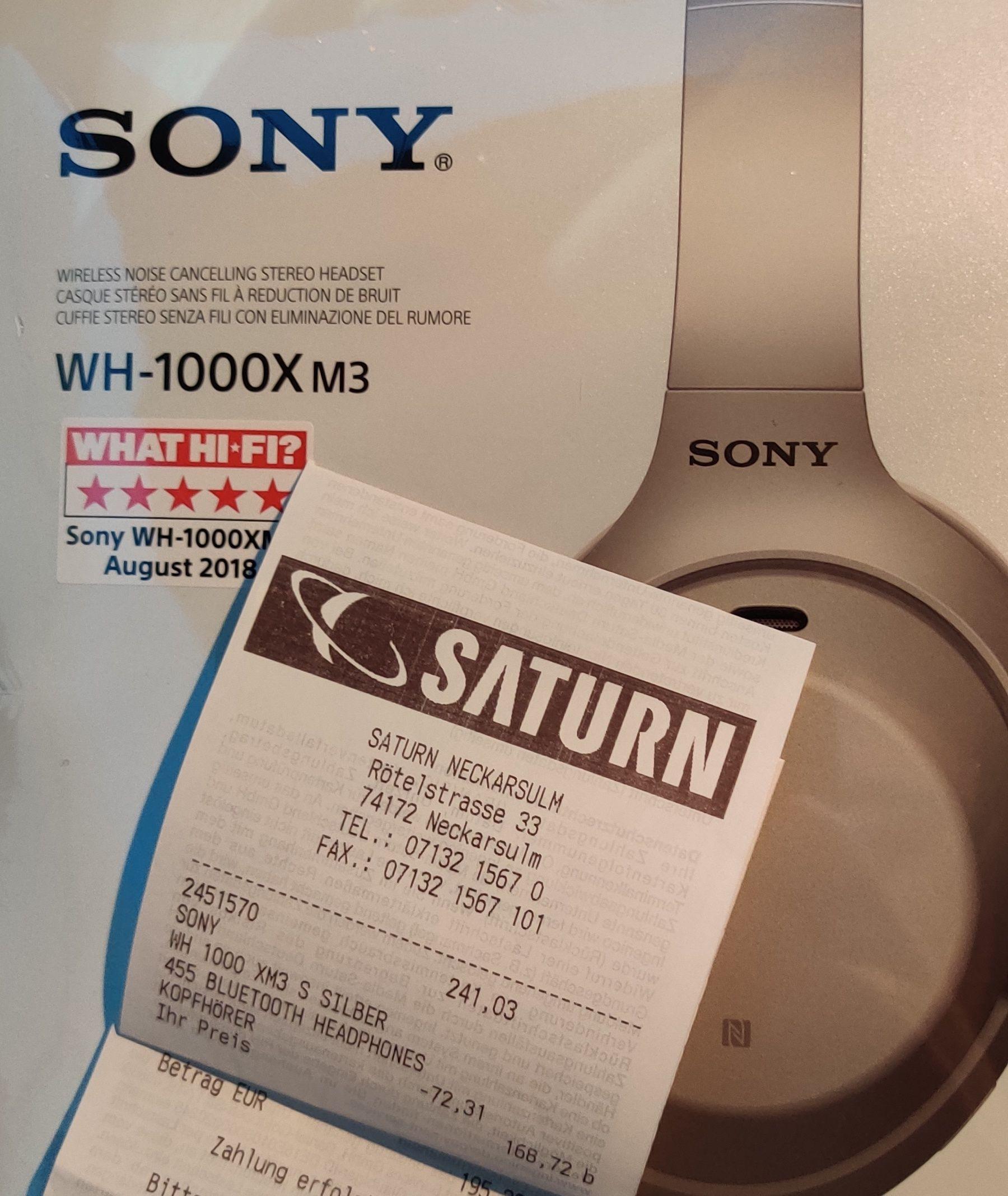 [Lokal Saturn Heilbronn-Neckarsulm] Sony WH-1000XM3 Noise-Cancelling Kopfhörer