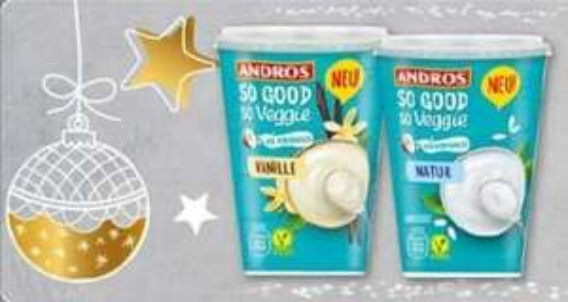 [Rewe] Andros Kokosjoghurt, vegan, je 400g-Becher für nur 1,46€ statt 1,99€