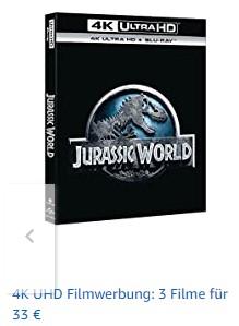 4K UHD Blu-Ray 3 für 33€ bei amazon.it
