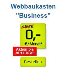 "1blu Webbaukasten ""Business"" - 35 GB Webspace + .de Domain"