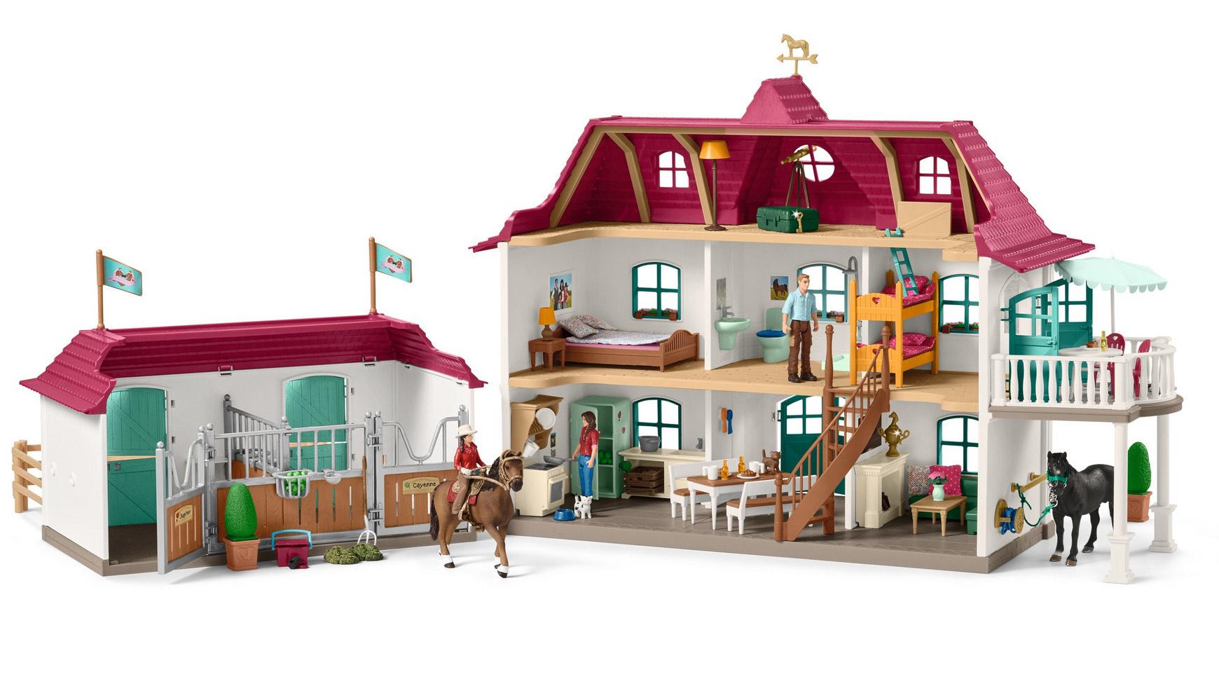 Schleich 42416 Horse Club - Großer Pferdehof mit Wohnhaus und Stall
