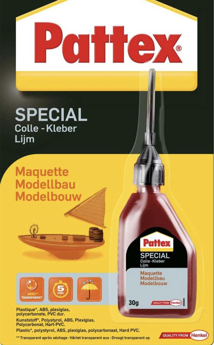 Pattex PXSM1 Spezialkleber Modellbau, für Kunststoff, Flasche mit 30 g