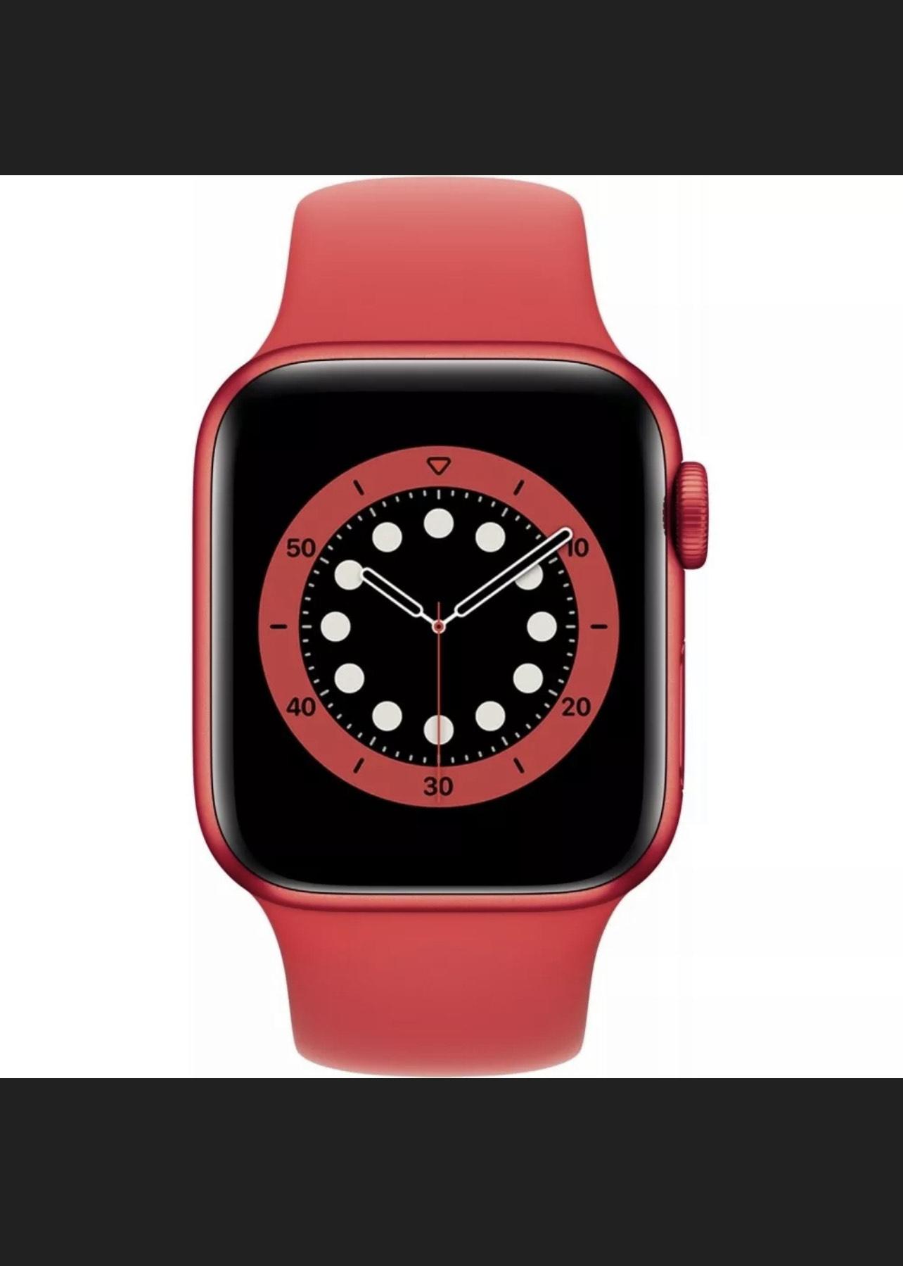 Apple Watch Series 6 Rot Aluminium 40mm Sportarmband PRODUCT(RED)