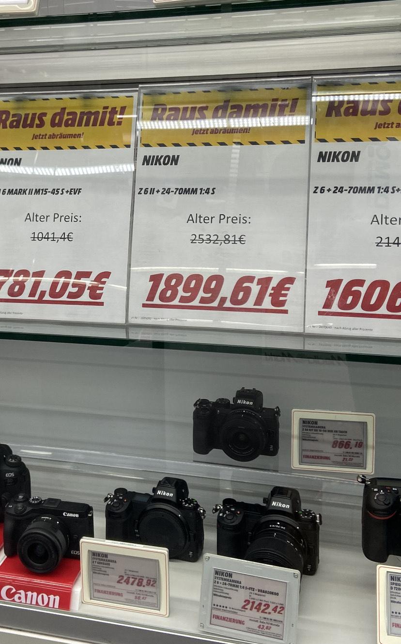 [LOKAL] Nikon Z 6II Kit 24-70 mm Media Markt Stuttgart Vaihingen