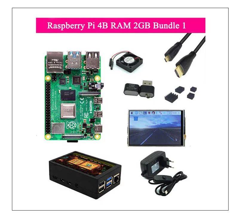 Raspberry Pi 4B (2/4 GB) + Display + Netzteil + Case