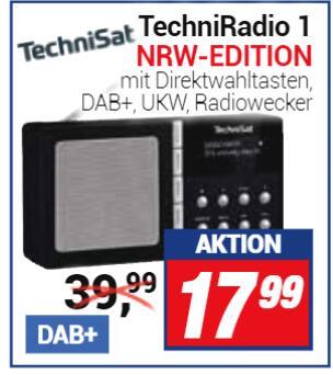 [Centershop] TechniRadio 1 (DAB+/UKW) NRW Edition (Erläuterung siehe Beschreibung) nur 17,99 €