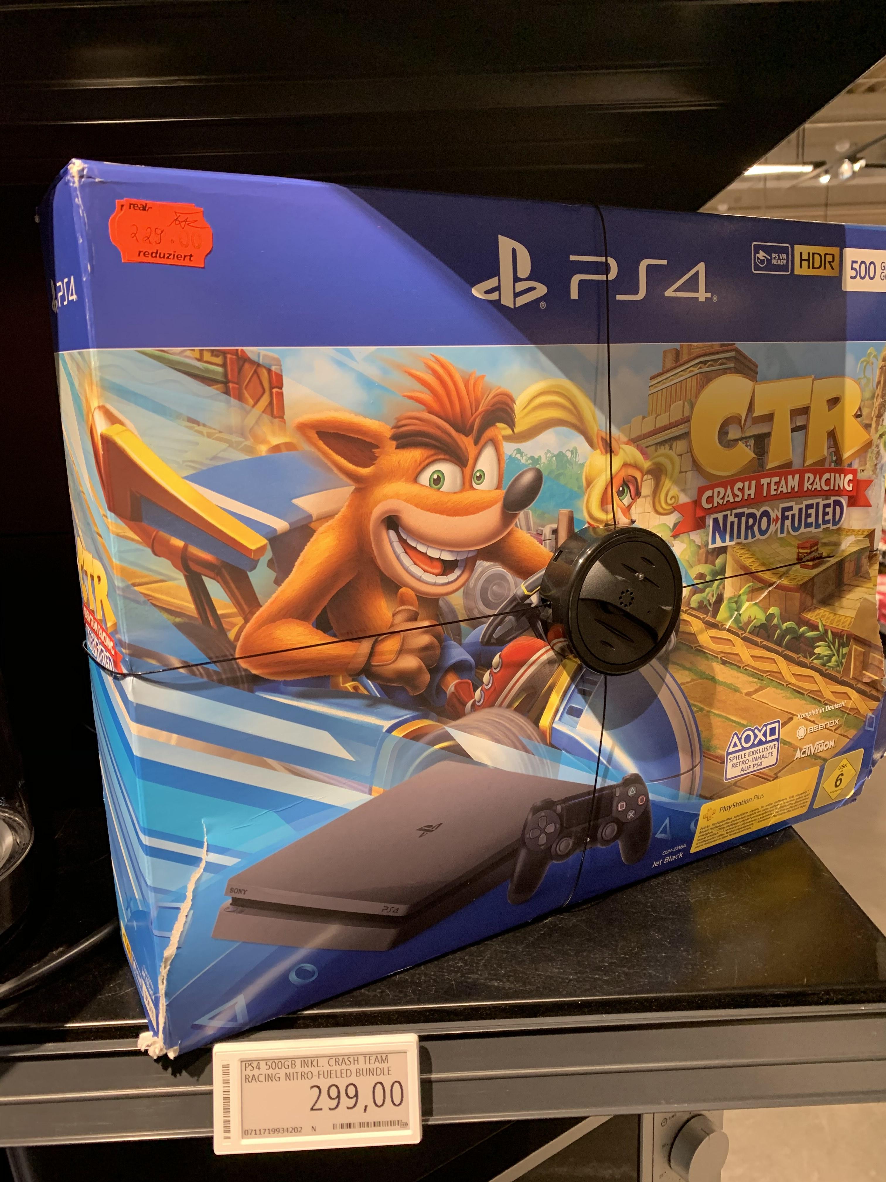 [Lokal Aschaffenburg] Sony PlayStation 4 Slim 500GB inkl. Crash Team Racing Nitro-Fueled Bundle