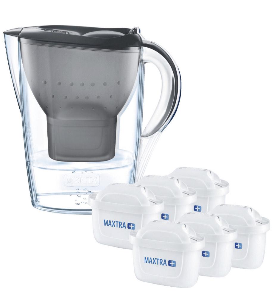 BRITA Wasserfilter Marella inkl. 6 MAXTRA+ Filterkartuschen [Prime]