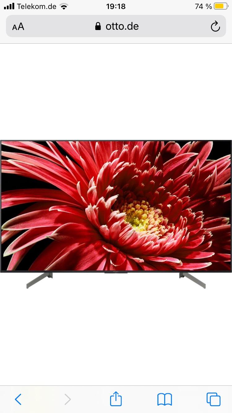 Sony KD55XG8505 LED-Fernseher (139 cm/55 Zoll, 4K Ultra HD, Smart-TV)