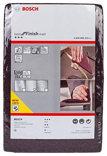 (Prime) Bosch Professional Schleifvlies Best for Finish Matt (Feinheitsgrad: sehr fein, 152 x 229 mm, Zubehör Handschleifen)