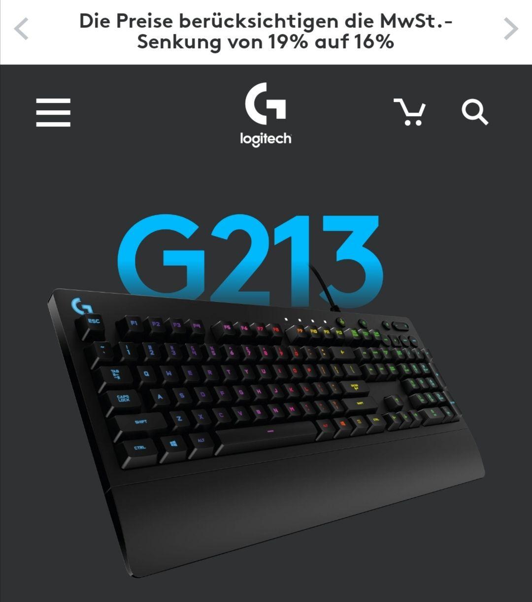 Logitech Gaming Tastatur G213