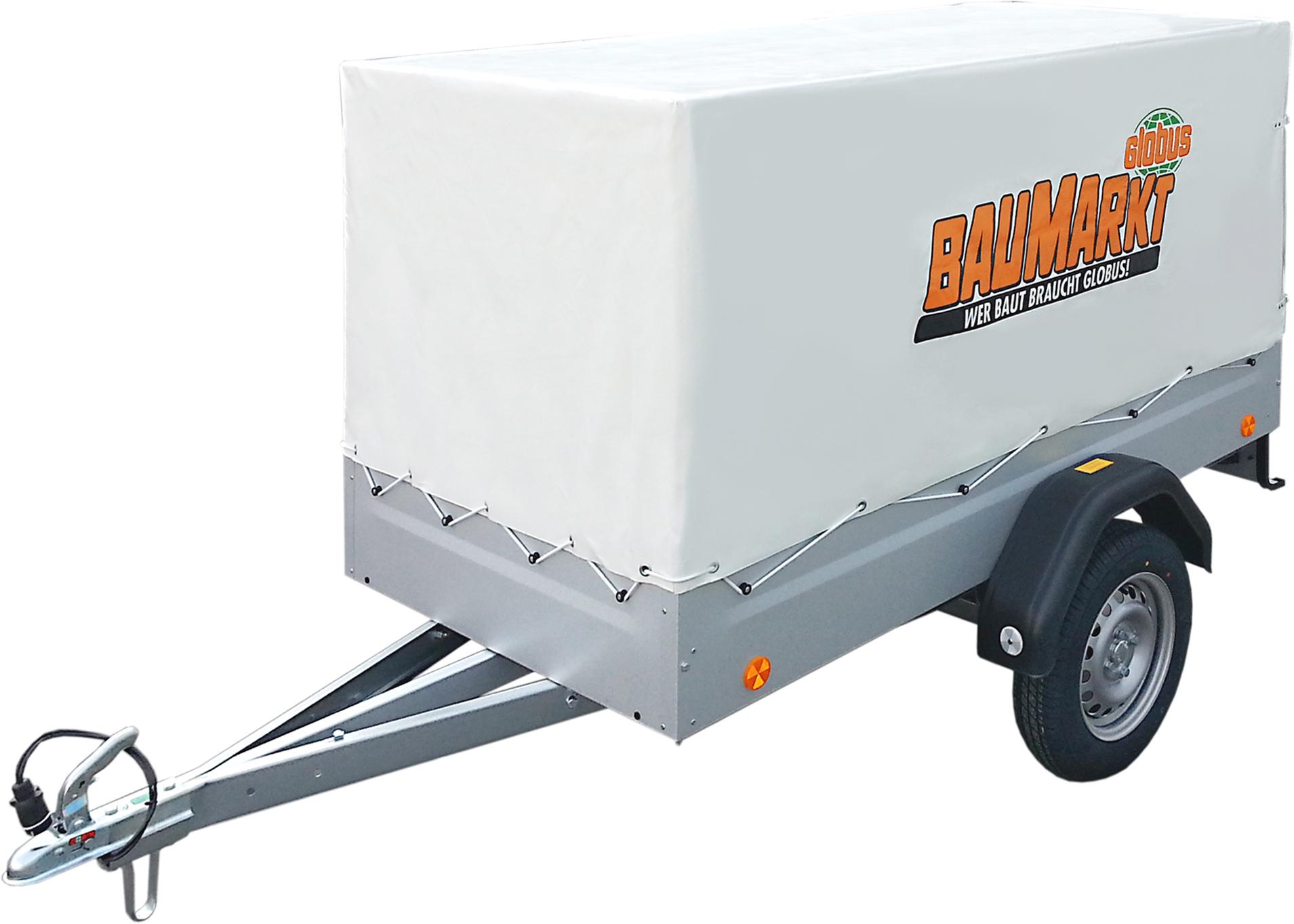 PKW-Anhänger inkl. Hochplane und Spriegel 750 kg