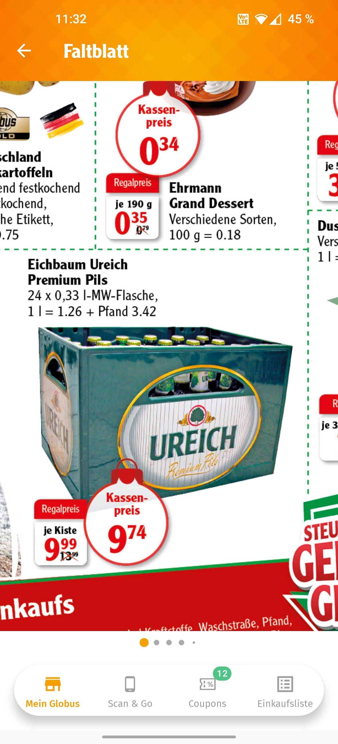Eichbaum Ureich 24 x 0,33 Globus Ludwigshafen