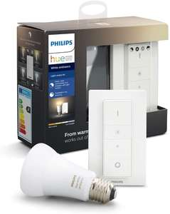 Philips Hue White Ambiance Light Recipe Kit: 1x Hue E27 White Ambiance (neue Version/Bluetooth) + Dimmschalter