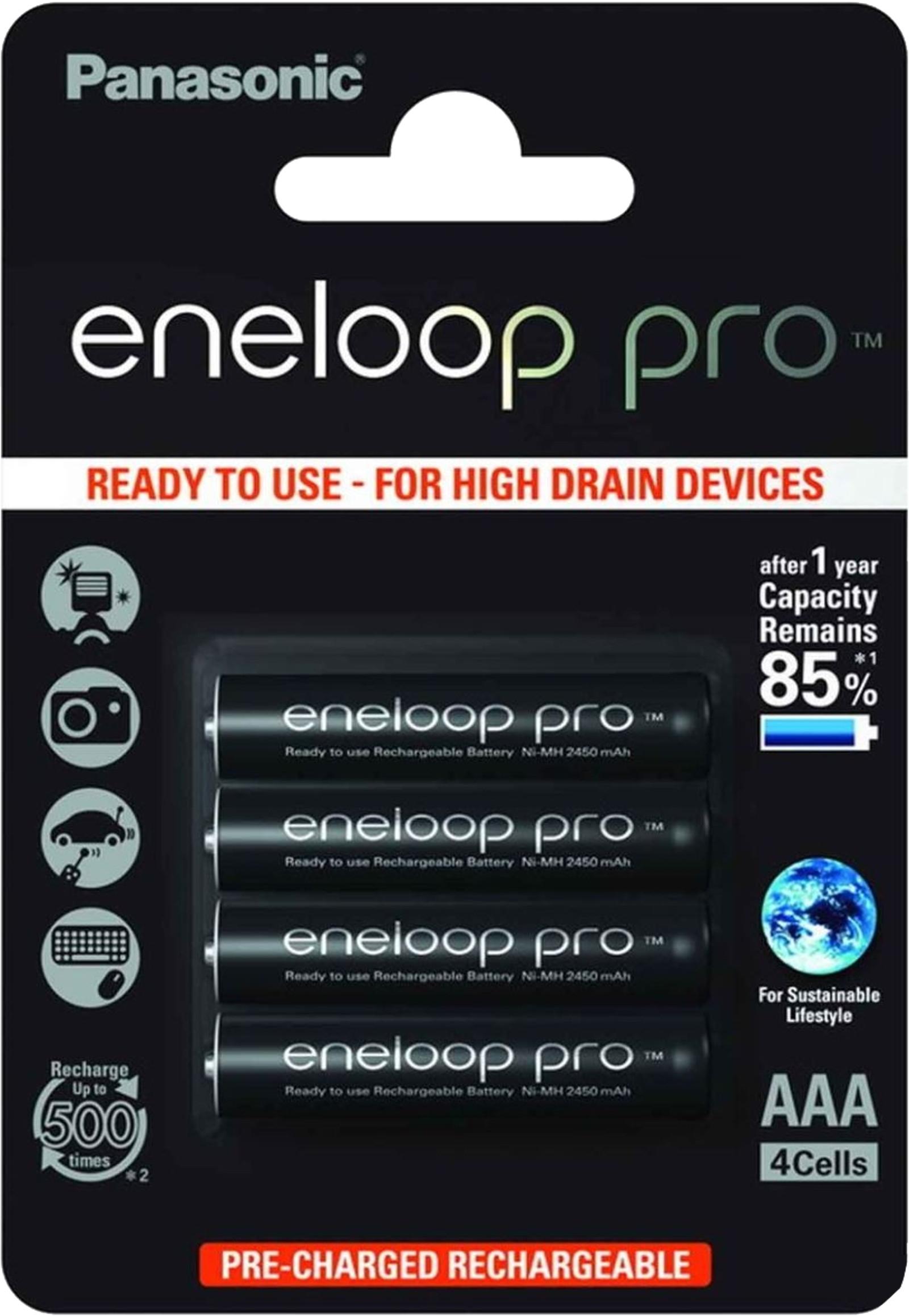 Panasonic eneloop Pro AAA Akku Micro 930 mAh 4er Blister