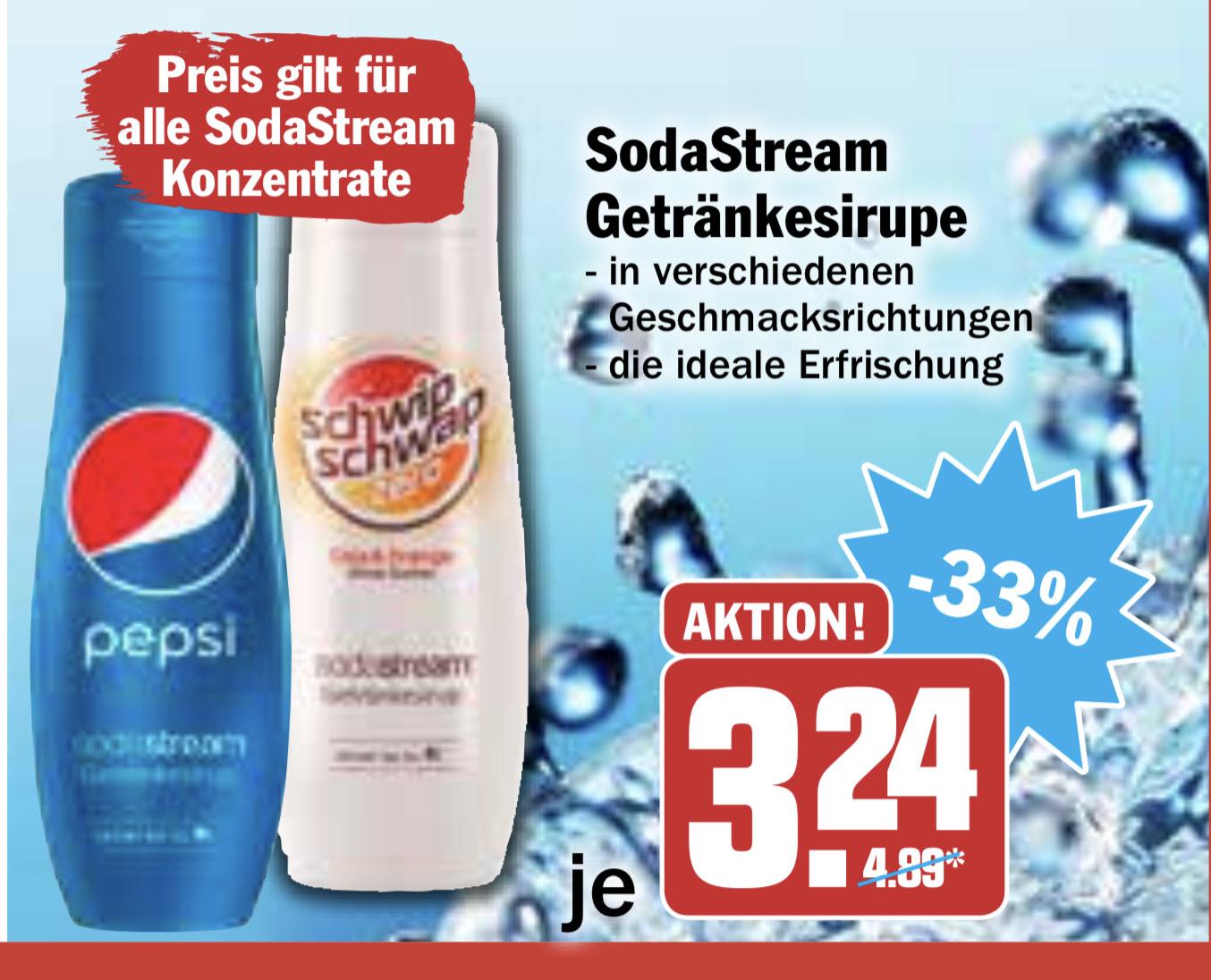 [Offline Hit] SodaStream Getränkesirupe verschiedene Sorten z.B. Pepsi, Schwip Schwap, 7up 440ml