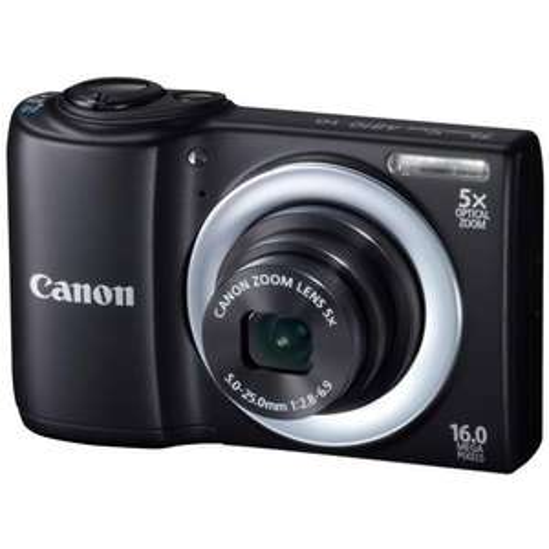 Canon PowerShot A810 Digitalkamera (16 Megapixel, 5-fach opt. Zoom, 6,9 cm (2,7 Zoll) Display, bildstabilisiert) schwarz