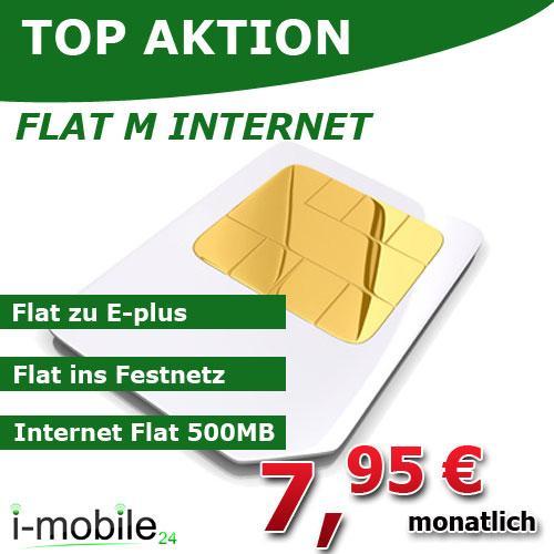 408€ Auszahlung für E-Plus Flat M Internet für effektive 7,95€ mtl.