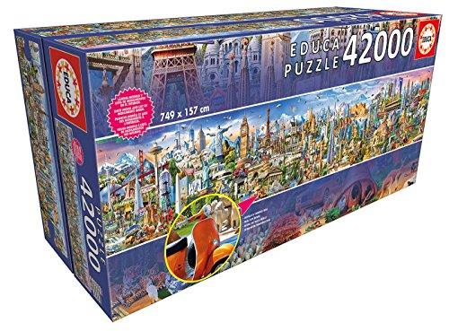 Riesenpuzzle, 42.000 Teile - Tour um die Welt