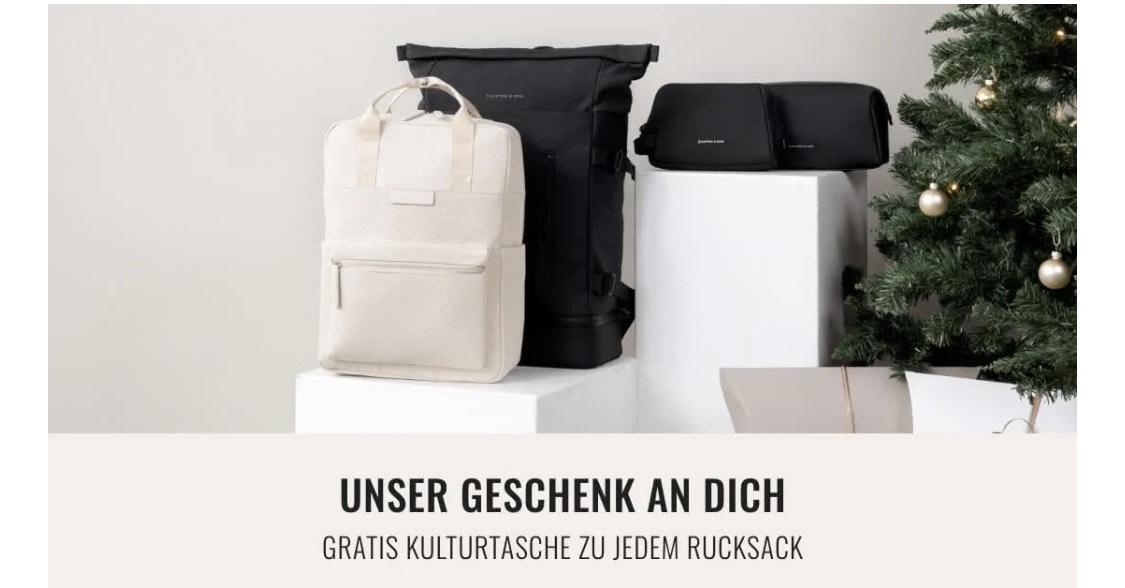 Kaptn and Son - Bei Kauf eines Rucksack gratis Kulturtasche ontop!