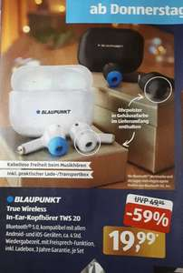 [Aldi Süd] Blaupunkt True Wireless In-Ear-Kopfhörer TWS 20