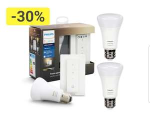 Philips Hue White Ambiance Light Recipe Kit E27 mit Dimmschalter (Bluetooth) + Hue White Ambiance E27 2er Pack