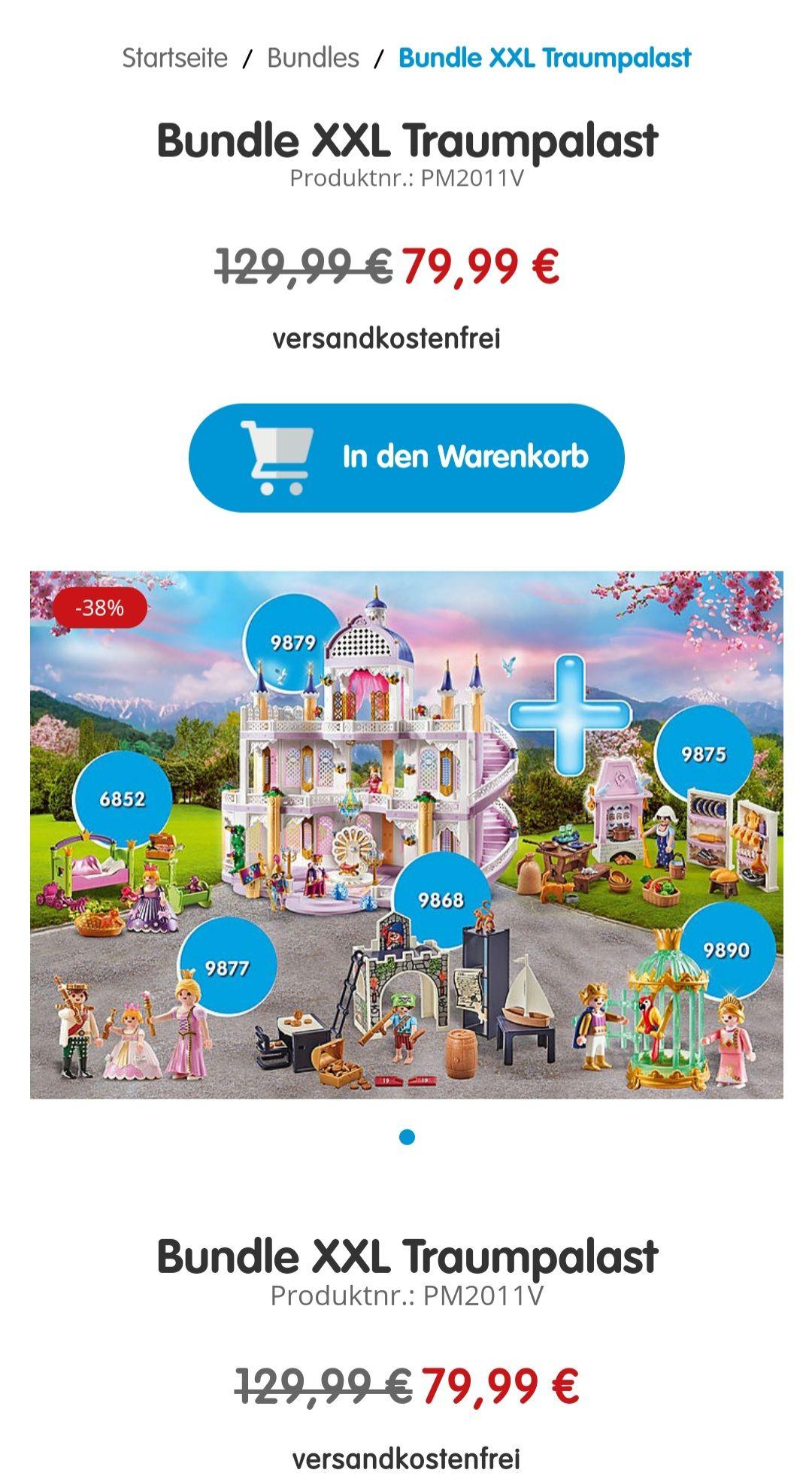 Playmobil Bundle Traumpalast 9878 mit 9890, 9875, 9877, 6852, 9868 - Bestpreis!