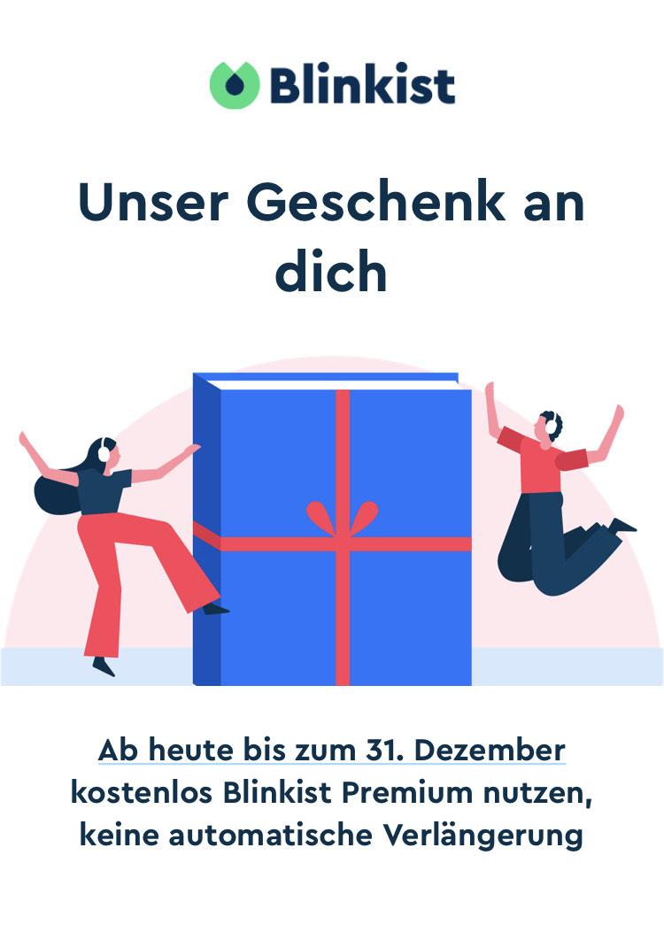 Blinkist Premium bis 31.12.2020 kostenfrei
