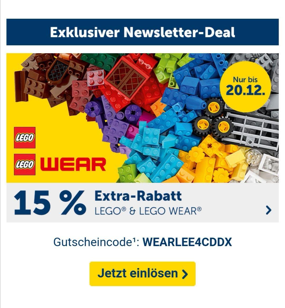 mytoys Newsletter 15 Prozent Extra Rabatt für Lego