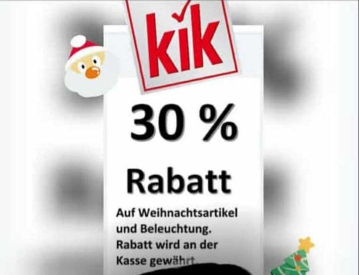 (Offline) KiK 30% auf Weihnachtsartikel