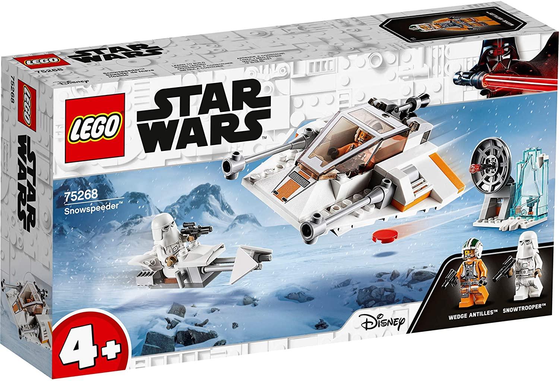 [Amazon Prime] LEGO 75268 Star Wars Snowspeeder, Verteidigungsstation und Speeder-Bike, Spielset mit Starter-Stein, ab 4 Jahren