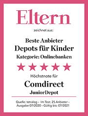 """Comdirect JuniorDepot oder JuniorGiro eröffnen und Sachprämie und evtl. """"Kunden werben Kunden""""-Geldprämie i.H.v. 20 Euro sichern"""