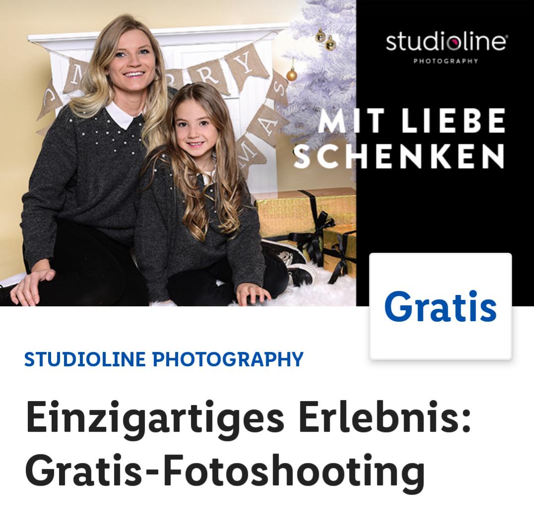[Lidl plus App] Kostenlos Fotoshooting bei Studioline
