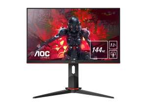 AOC 24G2U/BK Gaming-Monitor (1920 x 1080 Pixel, Full HD, 1 ms Reaktionszeit, 144 Hz)
