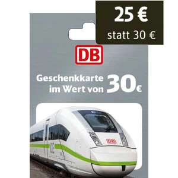 [EDEKA Marktkauf Netto] Deutsche Bahn 30€ Geschenkkarte für 25€ (bundesweit)