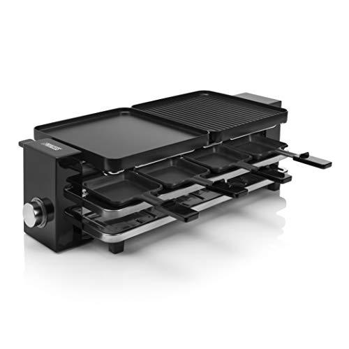 [Amazon.fr] Princess Piano Raclette - für bis zu 8 Personen, multifunktional, 1200 Watt, Aluminiumguss-Platte, 8 Pfännchen und Spatel