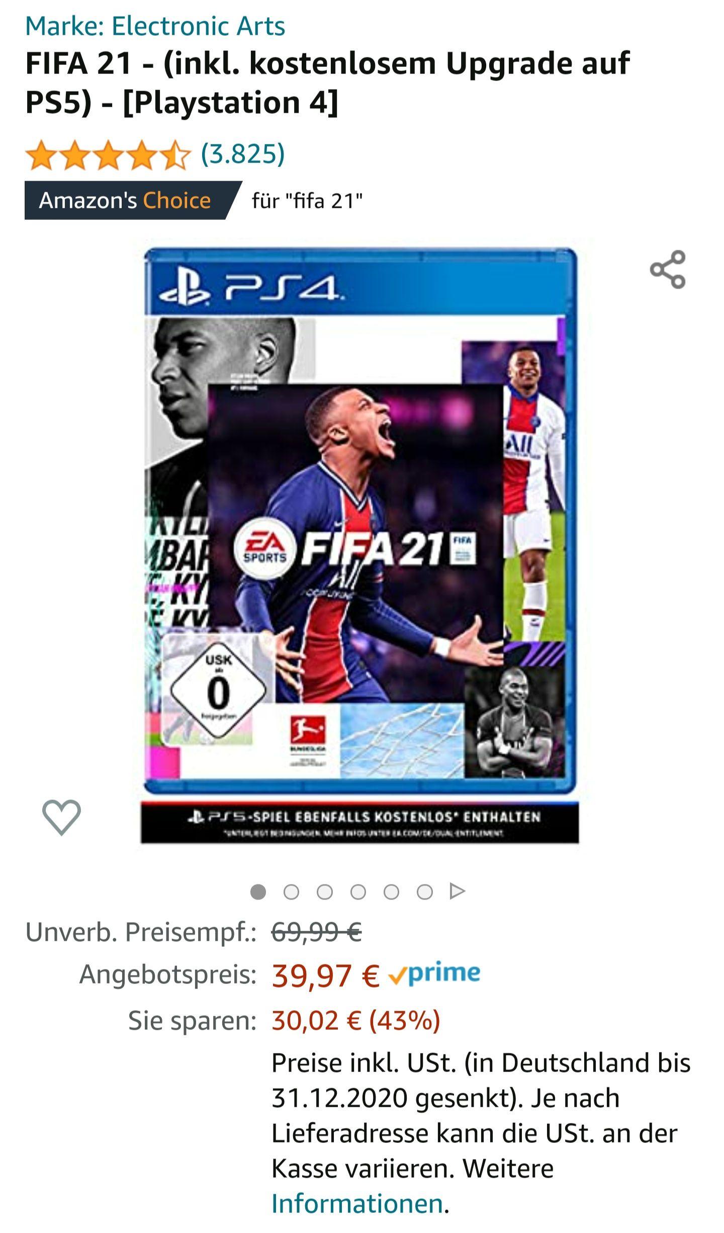 FIFA21 [Next-Gen Upgrade] Playstation 4