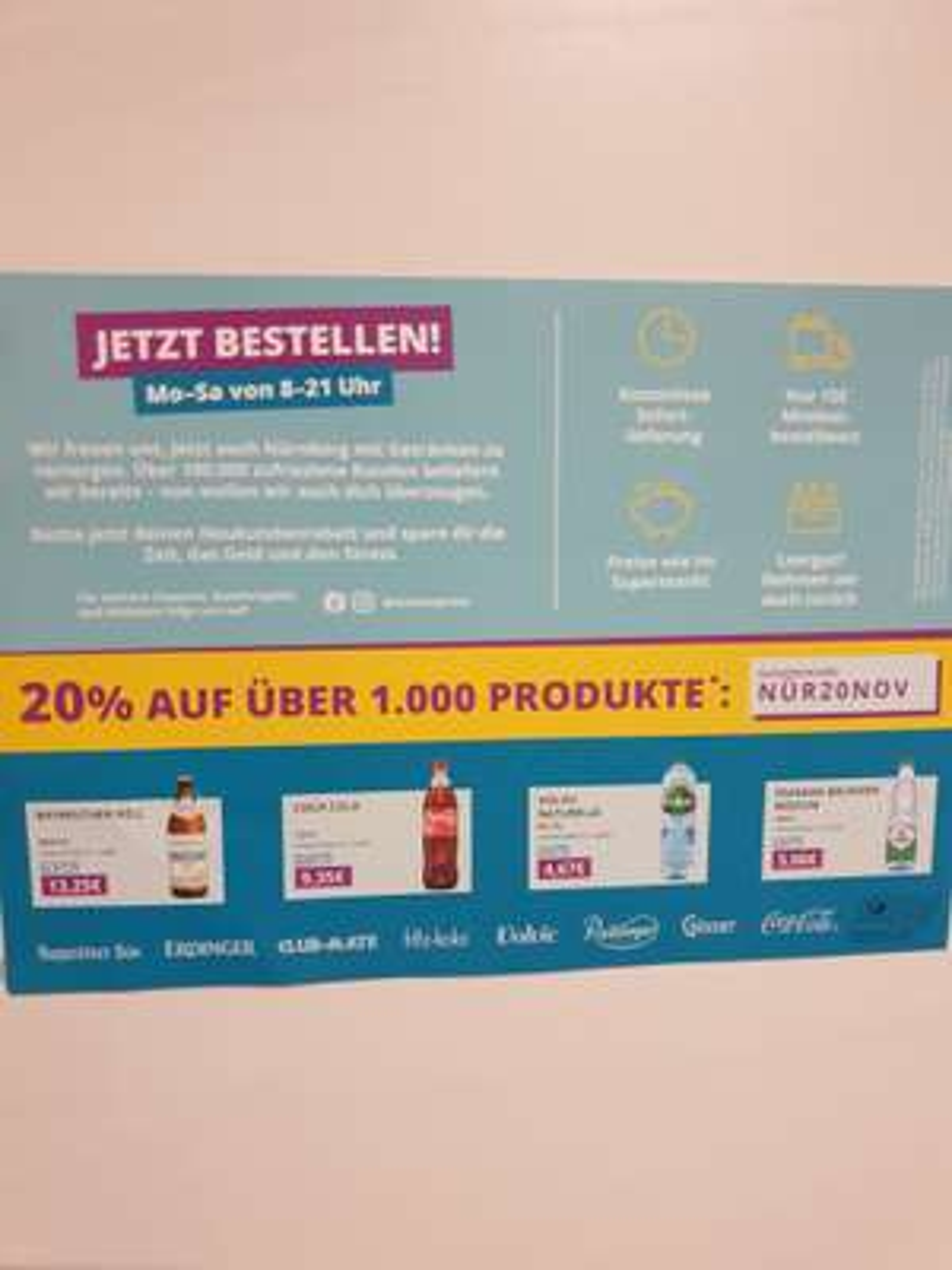[Lokal Nürnberg] Durstexpress 20% für Neukunden
