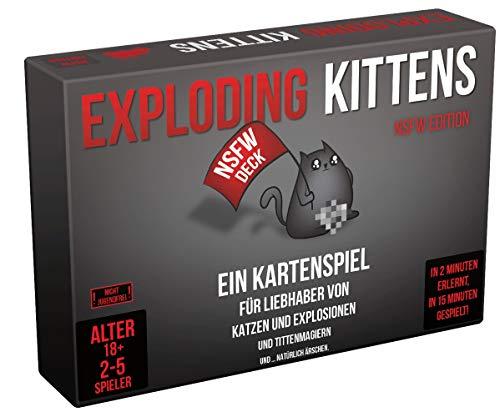 [amazon] [Prime] Asmodee Exploding Kittens NSFW Edition, Partyspiel