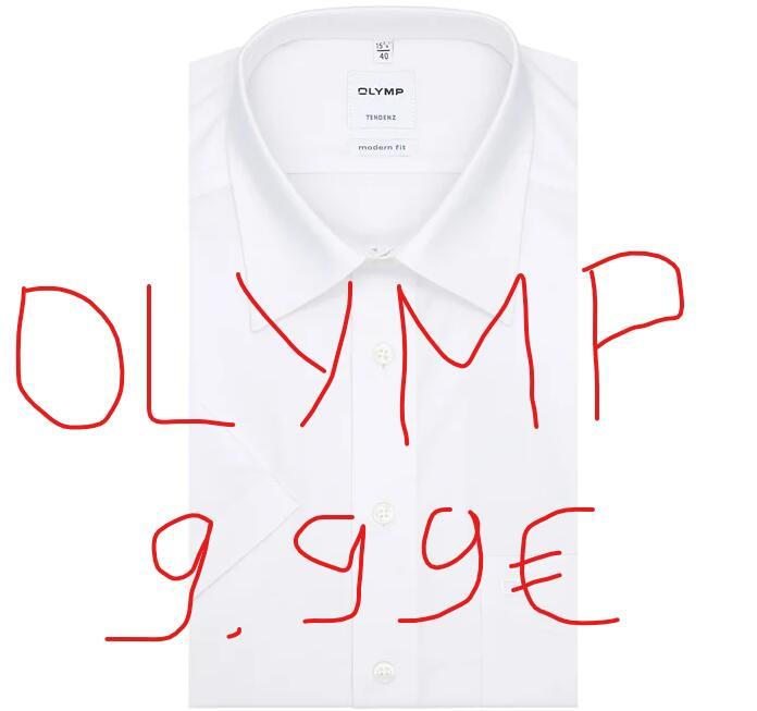Olymp Kurzarm Hemden je 9,99 Größen 38 - 46 nur solange der Vorrat reicht Bestsecret