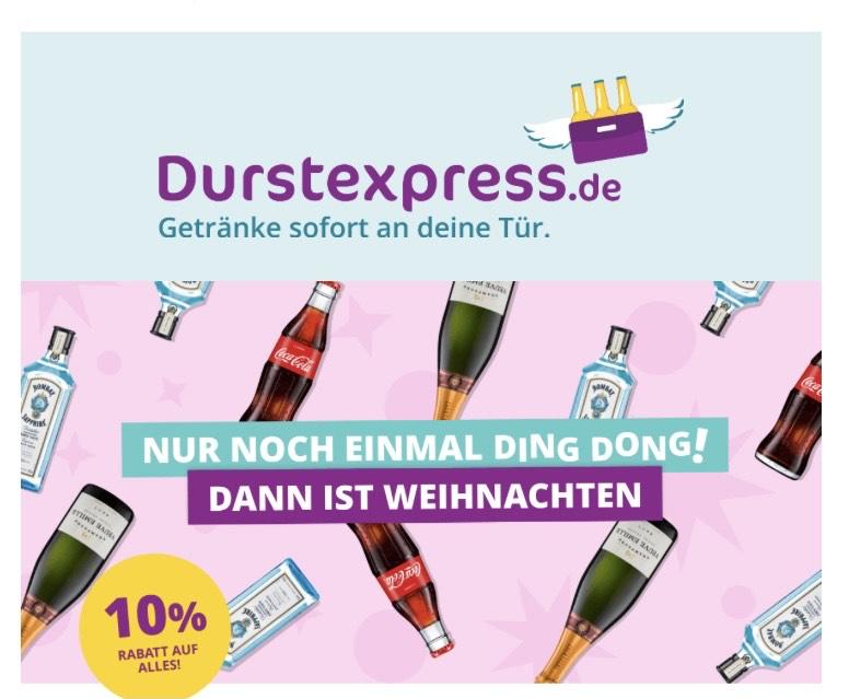 DurstExpress -10% auf alles (Max. 150€ exkl. Pfand)